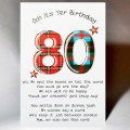 Scottish Birthday Card 80 with verse WWBP80
