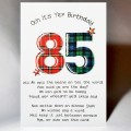 Scottish Birthday Card 85 with verse WWBP85