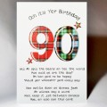 Scottish Birthday Card 90 with verse WWBP90