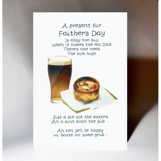 Fathers Day Card Pint and a Pie WWFD10