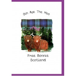 Scottish greeting cards now on sale embroidered originals scottish greetings card highland coo wwgr04 m4hsunfo