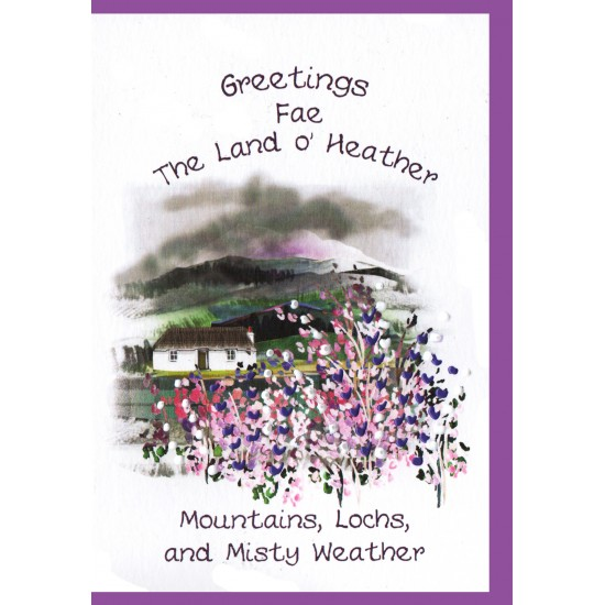 Greetings Fae The Land o' Heather Card WWGR28