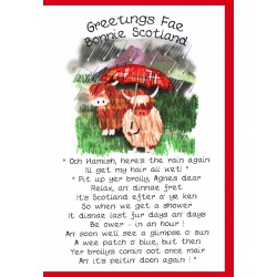 Scottish greeting cards now on sale embroidered originals greetings coos and umbrelly card wwgr29 m4hsunfo