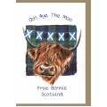 Greetings Coo and Saltire Card WWGR30