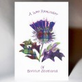 A Wee Reminder of Bonnie Scotland Thistle Card WWGR31