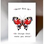 'Never Give Up' Butterfly Card WWJB05