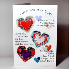 Scottish Lovey Dovey Card Love You Mair WWLD02