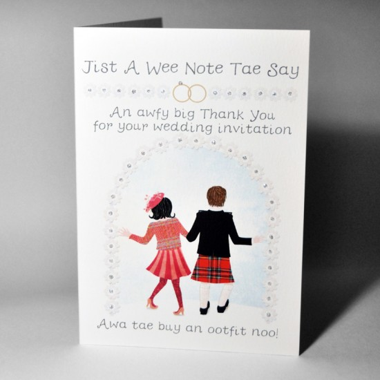 Wedding Acceptance Card Ootfit WWWE85
