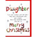 Christmas Daughter Card WWXM10