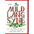 New Year Auld Lang Syne Card WWXM105