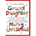 Christmas Granddaughter Card WWXM15