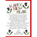 New Year Thistles Card WWXM36