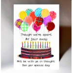 With Ye in Thought Oan Yer Birthday Card WWBD190