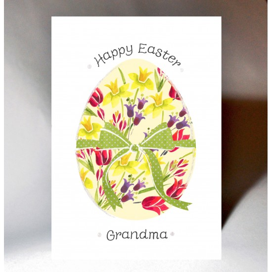 Easter Floral Egg Card WWEA04
