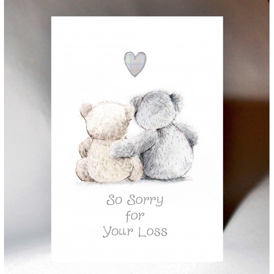 Sympathy Teddies Card WWSY08