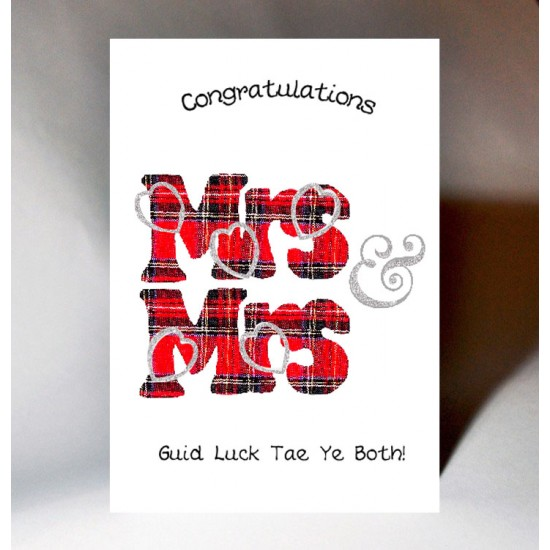 Mrs&Mrs Wedding Card  WWWE52B