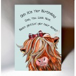 Scottish Birthday Card Hairdo Coo WWBD41