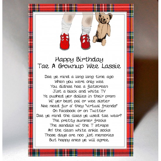Scottish Birthday Card Memories Female WWBD57