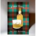 Scottish Birthday Card Wee Dram WWBD77