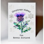 Christmas Thistle Card WWXM01