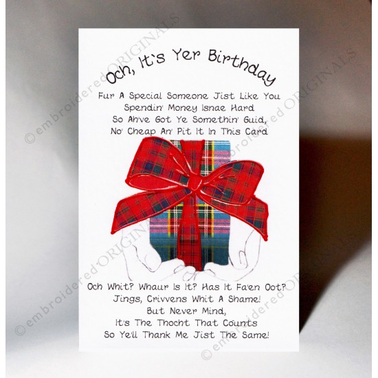 Scottish Birthday Card Poem Parcel WWBD62
