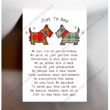Scottish Greeting Card Tartan Scotties WWGR01