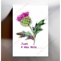 Scottish Greetings Card Large Thistle WWGR07a