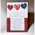 Scottish Wedding  Anniversary Card Go Thegither Poem WWWE39