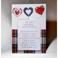 Scottish Wedding Anniversary Card Oor Poem WWWE41