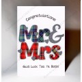 Scottish Wedding Card Mr&Mrs WWWE52