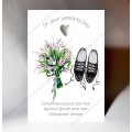 Wedding Bonnie Bride Handsome Husband Card WWWE86