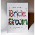 Wedding Bride and Groom Card WWWE90