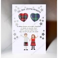 Oor Anniversary Balloon Couple Card WWWE91