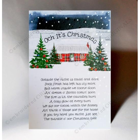 Poem About A Christmas Tree: Christmas Tree Poem Card WWXM32
