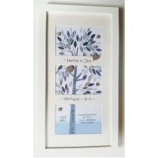 'Framed Wishes' Anniversary Silver Patchwork Tree FW WE02