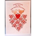 'Special Wishes' Large Ruby Anniversary Doves Card SW WE05