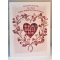 'Special Wishes' Large Thistle Heart Ruby Anniversary Card SW WE10