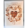 'Special Wishes' Large Thistle Heart Gold Anniversary Card SW WE11