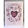 'Special Wishes' Large Thistle Heart Anniversary Card SW WE12