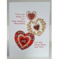 'Special Wishes' Large Anniversary Three Wishes Ruby Card SW WE16