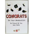 'Special Wishes' Large Graduation Congrats Mortars Card SW GD01