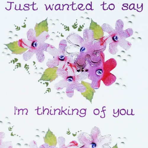 Thinking Of You Flowers Card Wwsy05