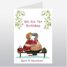 Scottish Birthday Gie's A Squeeze Card WWBI114