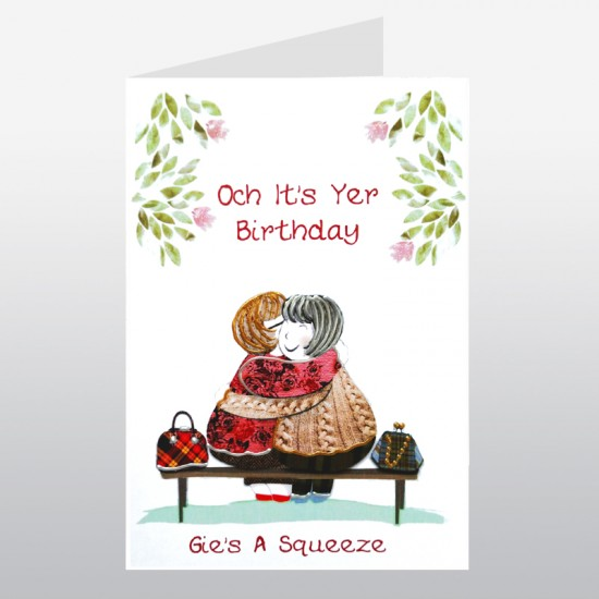 Scottish Birthday Gie's A Squeeze Card WWBD114