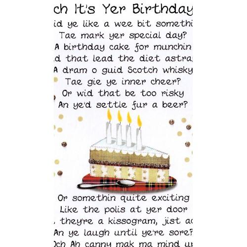 Scottish Birthday Card Cake Poem WWBI39 Scottish Birthday Cards