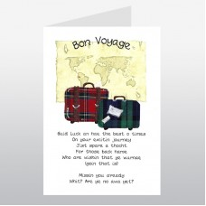 Scottish Bon Voyage Card Suitcases WWBV01