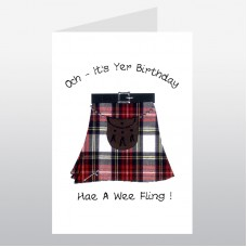Scottish Birthday Card Kilt Fling WWBI55