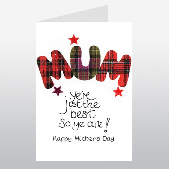 Scottish Mother's Day Card Tartan Mum WWMD07