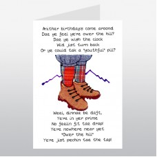 Scottish Birthday Card Hiking Boots WWBI52