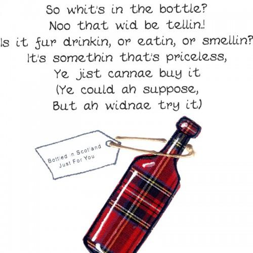 Scottish Birthday Card Bottle WWBI36 | Scottish Birthday Cards: www.embroideredoriginals.co.uk/index.php?route=product/product...